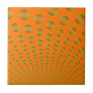 Bubbles in Orange and Green tile