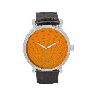 Bubbles in Orange and Green Wrist Watch