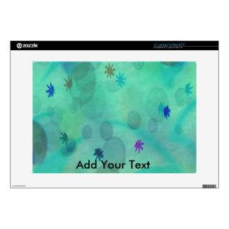 "Bubbles in Teal 15"" Laptop Skin"
