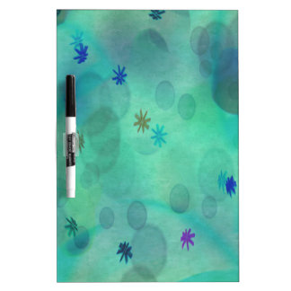 Bubbles in Teal Dry-Erase Board