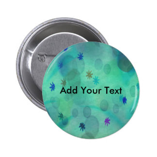 Bubbles in Teal Pinback Button
