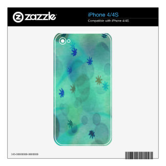 Bubbles in Teal Skins For iPhone 4