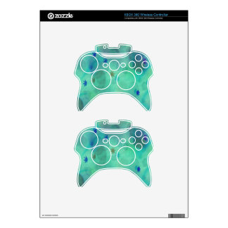 Bubbles in Teal Xbox 360 Controller Skin