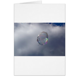 Bubbles in the sky card