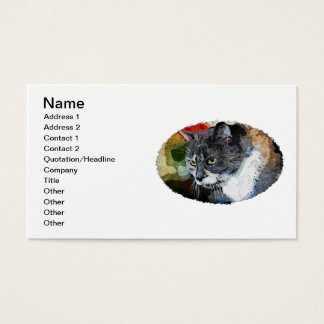 BUBBLES INTENTLY FOCUSED BUSINESS CARD