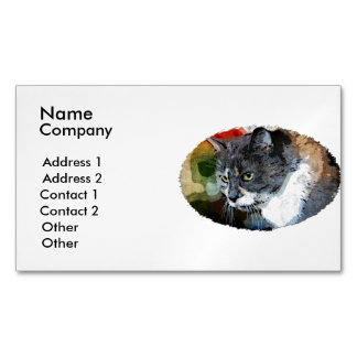 BUBBLES INTENTLY FOCUSED BUSINESS CARD MAGNET