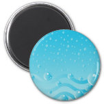 Bubbles IV 2 Inch Round Magnet