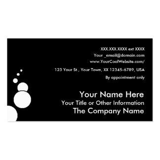 BUBBLES - jet - business card template