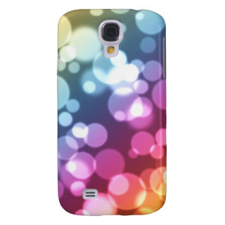 Bubbles light galaxy s4 cover