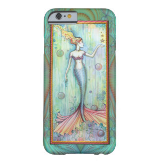 Bubbles Mermaid Watercolor Fantasy Art Barely There iPhone 6 Case