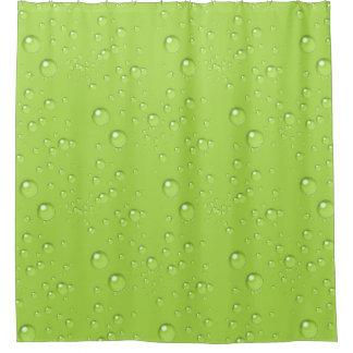 Bubbles Monochrome Lime Green BBMX Shower Curtain