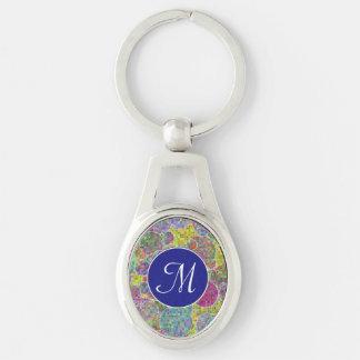Bubbles mosaic keychain