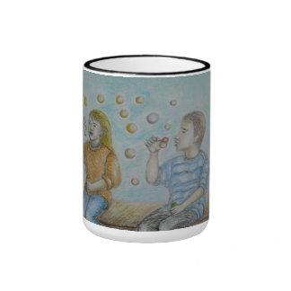 bubbles ringer coffee mug