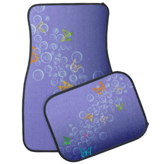 Bubbles n Butterflies Car Mat