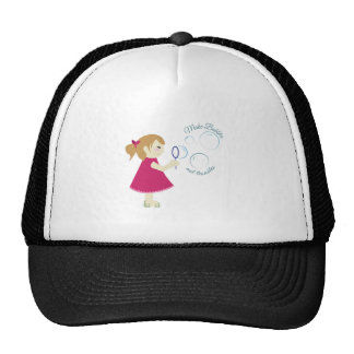 Bubbles Not Troubles Trucker Hat