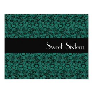 Bubbles Of Emerald Sweet Sixteen Invitation