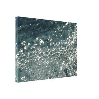 Bubbles on Pool Water Glisten Under a Bright Sun Canvas Print