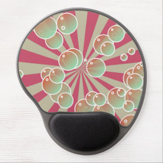 Bubbles on radial background gel mouse pads