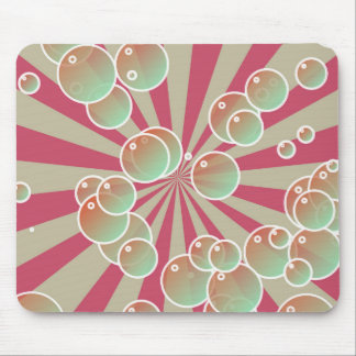 Bubbles on radial background mouse pads