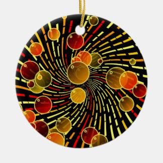 Bubbles on vortex ceramic ornament