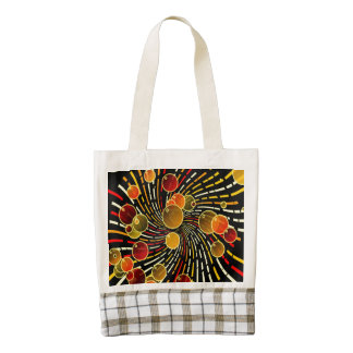 Bubbles on vortex zazzle HEART tote bag