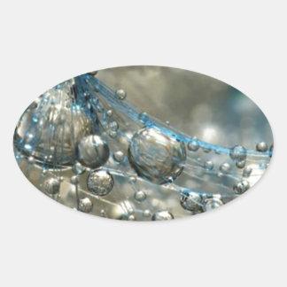 Bubbles Oval Sticker
