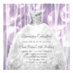 Bubbles Party Dress White Quinceanera Invitations
