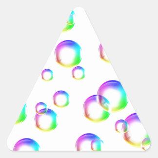 Bubbles - Rainbow Colors Triangle Sticker