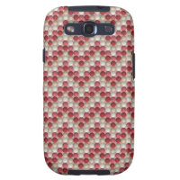 Bubbles Red Samsung Galaxy S3 Case