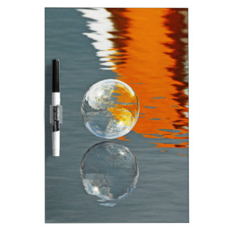 Bubbles Reflecting in Water Dry-Erase Board