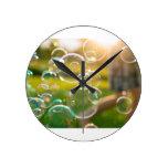 Bubbles Round Clock