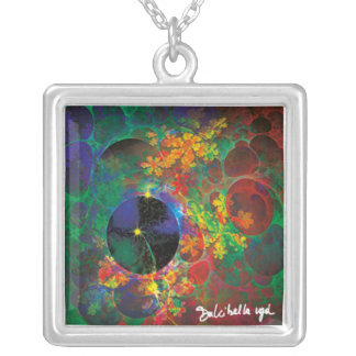 Bubbles Silver Plated Necklace