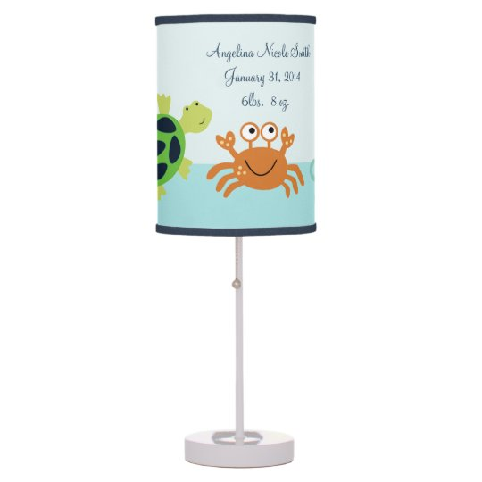 Bubbles & Squirt/Sea Creatures Baby Nursery Lamp | Zazzle.com