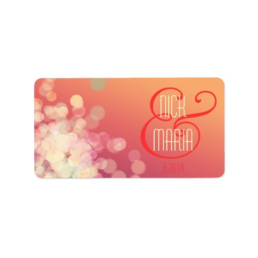 Bubbles Stickers Name Tags Wedding Labels