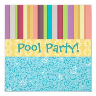 Bubbles & Stripes Invitation