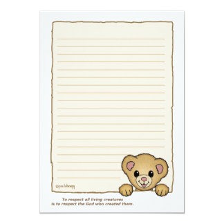 Bubbles, the Bear (Pathway Pet) Card