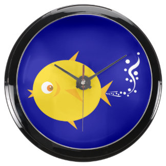 Bubbles The BlowFish Fish Tank Clocks