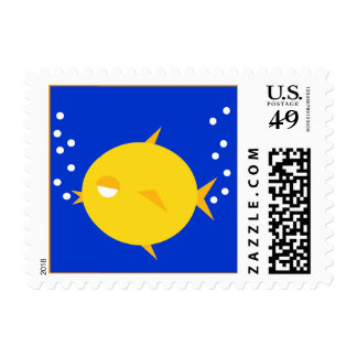 Bubbles The BlowFish_double bubbly postage