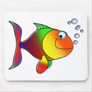Bubbles the Fish Mouse Pad