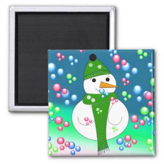 Bubbles the Snowman Magnet