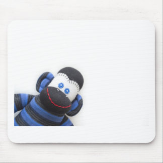 Bubbles the sock monkey mouse pad