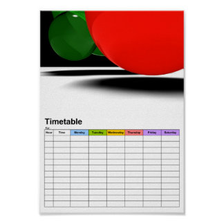 Bubbles / Timetable Poster