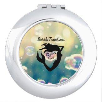 Bubbles Travel Compact Mirror