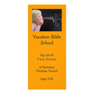 BUBBLES: VACATION BIBLE SCHOOL INVITATION CARDS