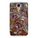 Bubbles , Water beads close up orange clear Samsung Galaxy S4 Covers