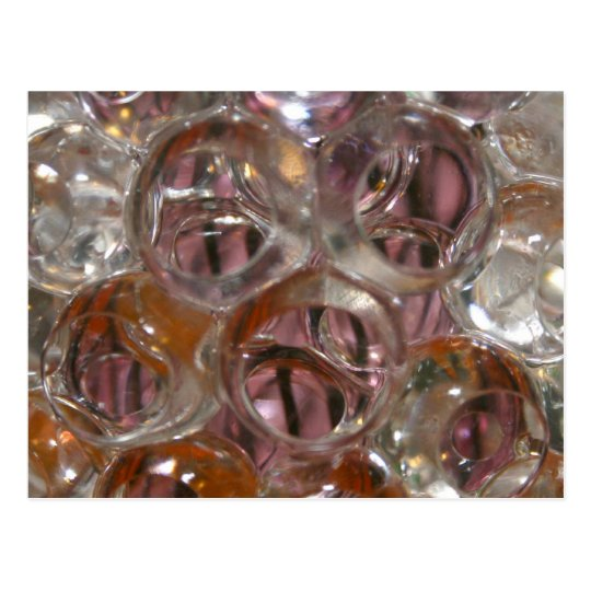 Bubbles , Water beads close up orange clear Postcard