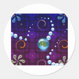 bubblestrand classic round sticker