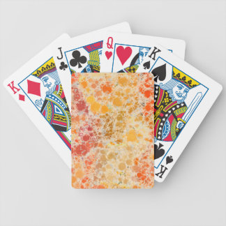 Bubblicious XI Orange Yellow Burgundy Abstract Bicycle Playing Cards