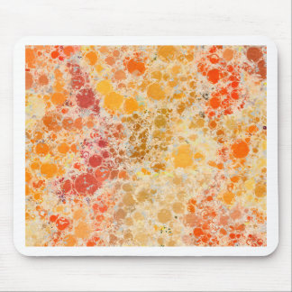 Bubblicious XI Red and Orange Abstract Mouse Pad