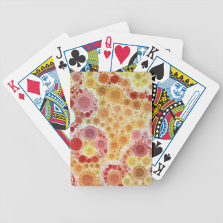 Bubblicious XIX Red Yellow Orange Abstract Bicycle Playing Cards